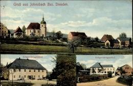 Cp Johnsbach Glashütte In Sachsen, Erbgerichtsgasthof, Kirche - Deutschland