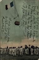 Cp En Manoeuvres, Treuil De Campagne Pour Ascensions Captives, Fesselballon - Vliegtuigen