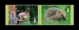 Finland 2020 Mih. 2697/98 NORDEN. Fauna. Mammals. Squirrel And Hedgehog MNH ** - Finland