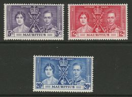 Mauritius 1937 MiNr. 200 - 202 Coronation Of King George VI And Queen Elisabeth  3v  MLH*  0,90 € - Feste