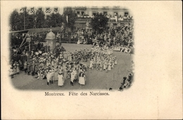 Cp Montreux Kt. Waadt Schweiz, Fete Des Narcisses, Festumzug, Zuschauer - VD Vaud