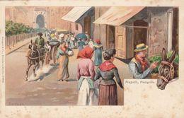 NAPOLI-PIEDIGROTTA-CARTOLINA LITOGRAFICA-NON VIAGGIATA-ANNO 1900-1904 - Napoli (Naples)