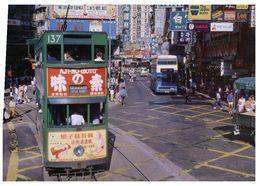 (B 1) Hong Kong Street With Tramway - Chine (Hong Kong)
