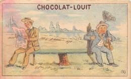 CHROMO - CHOCOLAT LOUIT, BORDEAUX - HUMORISTIQUE - Louit