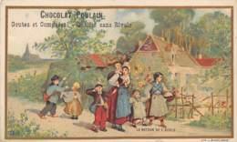 CHROMO - CHOCOLAT POULAIN - LE RETOUR DE L'ECOLE - Poulain