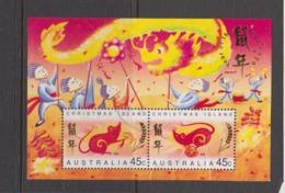 Christmas Island ASC 384ms 1996 Year Of The Rat Miniature Sheet,Used - Christmas Island