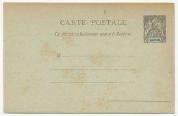 MAYOTTE - Entier Carte Postale 10c  - CP1 - Neuve - Entiers Postaux & Prêts-à-Poster