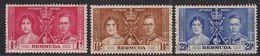 Bermuda 1937 KGV1 Set Coronation Used SG 107 – 109 ( C94 ) - Bermudas