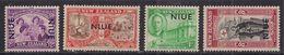 Niue 1946 KGV1 Set Peace Stamps Umm SG 98 – 101 ( C315 ) - Niue