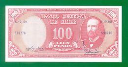 CHILE 100 Pesos (1960-1961) P127 UNC - Chili