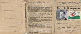 ORGANISATION CENTRALE DES CAMPS ET AUBERGES DE JEUNESSE, CARTE DE RESPONSABLE  1948, VIGNETTE, PHOTO, RARE DOCUMENT - Organisations