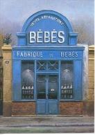 Fabrique De Bébés N°6 (vente Réparation Poupons Poupées) André Renoux (paris Par Les Peintres) édi C. Albert Cp Vierge - Pubs, Hotels, Restaurants