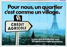 """Publicité CREDIT AGRICOLE - """"Un Bon Sens Près De Chez Vous"""" - 1978 Avec Tour Eiffel - Banks"""