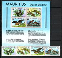 Mauritius 1978 MiNr. 463 - 466 (Block 8) WWF Butterflies Bats Birds Reptiles 4v+1 S/sh MNH ** 138,00 € - Mauritius (1968-...)
