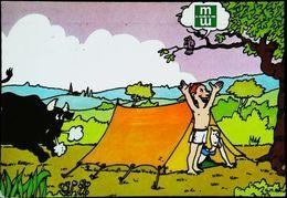Mutuelles Du Mans - Publicité Accident Avec Taureau - 1985 - Banks