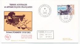 TAAF - Enveloppe FDC - Robert Pommier - Dumont D'Urville T. Adélie - 1-1-1994 - FDC