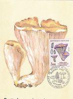 Gomphus Clavatus Chanterelle Violette (timbre Et Tampon Premier Jour 1987) - Pilze