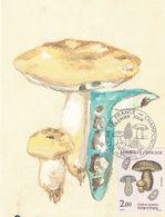 Gyroporus Cyanescens Indigotier (timbre Et Tampon Premier Jour 1987) - Pilze