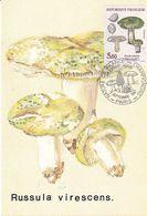 Russula Virescens Palomet (timbre Et Tampon Premier Jour 1987) - Pilze