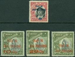 CHILE 1910 JUAN FERNANDEZ ISLANDS OVERPRINTS* (MH) - Chile