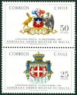 CHILE 1983 ORDER OF MALTA PAIR** (MNH) - Chili