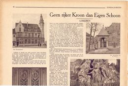 Orig Knipsel Artikel Tijdschrift - Geen Rijker Kroon Dan Eigen Schoon - Lokeren - 1931 - Oude Documenten