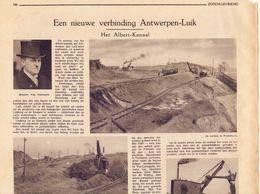 Orig Knipsel Artikel Tijdschrift - Werken Albertkanaal Te Kanne , Vroenhoven, - 1931 - Unclassified