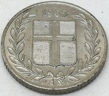 Moneda 1965. 25 Aurar. Islandia. KM 11. MBC - Islande
