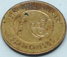Moneda 1986. 50 Aurar. Islandia. KM 26. EBC. Excelente Buena Conservación - Islande