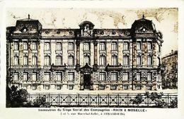 "Cpa Assurance ""RHIN & MOSELLE""  Siège Social  - Rue Du Maréchal Joffre - Strasbourg  - - Banks"