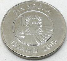 Moneda 2005. 1 Krona. Islandia. KM 27a. MBC - Islande