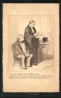 Künstler-AK Sign. H. Daumier: L`avocat, L`affaire Marche..., Anwalt Liest Ein Schreiben - Andere Illustrators