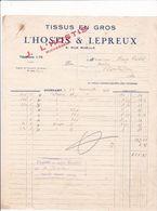 22-L'Hostis & Lepreux..Tissus En Gros..Guingamp..(Côtes-d'Armor)..1931 - Vestiario & Tessile