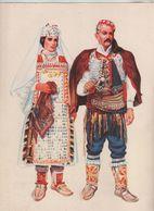 Dalmacija Costumes Nationaux Croates Knin Vrlika 1955 - Non Classificati