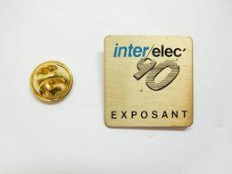 Beau Pin's , Inter/Elec' 90 , Exposant , électricité - Pin's