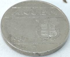 Moneda 1986. 25 Céntimos. Aruba. KM 3. MBC - [ 4] Colonies