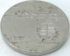 Moneda 1997. 25 Céntimos. Aruba. KM 3. MBC - [ 4] Colonies