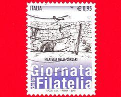 ITALIA - Usato - 2015 - Giornata Della Filatelia - Filatelia Nelle Carceri  - 0,95 - 2011-...: Oblitérés