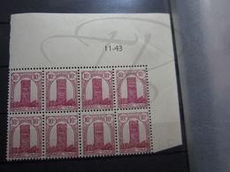 VEND BEAUX TIMBRES DU MAROC N° 204 EN BLOC DE 8 + BDF + CD , XX !!! - Morocco (1891-1956)
