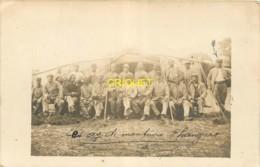 60 Ormoy Le Davien, Carte Photo De Poilus Monteurs De Hangars, Août 1918, Beau Document - Autres Communes