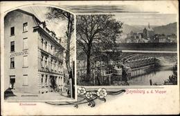 Cp Beyenburg Wuppertal In Nordrhein Westfalen, Blick Auf Den Ort, Kirchstraße, Konditorei Und Cafe - Otros