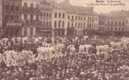 Binche - Le Carnaval - Le Rondeau Final Sur La Grand'Place - Circulé En 1928 - Animée - TBE - Binche