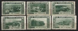 MAROC - RABAT - Lot De 6 Timbres - Photos Flandrin - Cinderellas