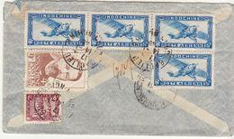 ESC 15g Baclieu Cochinchine / Par Avion 1948 (2 Scans) - Indochine (1889-1945)