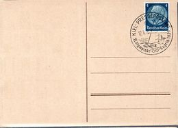 CARTE POSTALE ALLEMAGNE 1936 - OBLITERATION DES EPREUVES NAUTIQUES A KIEL - - Summer 1936: Berlin