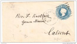 Old Stationary Envelope From India - Terlicherry To Calicut Arrival Cancel On Back - Reduced Summerprice - Briefe