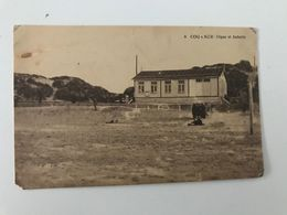 Carte Postale Ancienne COQ S/MER Digue Et Aubette - De Haan