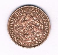 1 CENT 1938 NEDERLAND /5169/ - 1 Cent