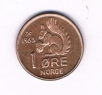 1 ORE 1963 NOORWEGEN /5174/ - Noruega