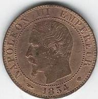 CINQ CENTIMES EMPEREUR FRANCAIS 1854 PIECE DE MONNAIE ANCIENNE ANCIENT COIN - France